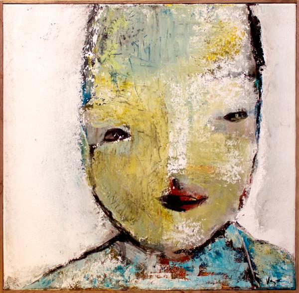 Content. 50x50 cm acryl på canvas