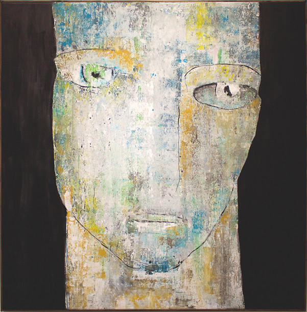 Face 2. 145x145 cm acryl på canvas