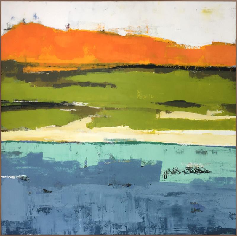 The Shore. 115x115 cm acryl på canvas