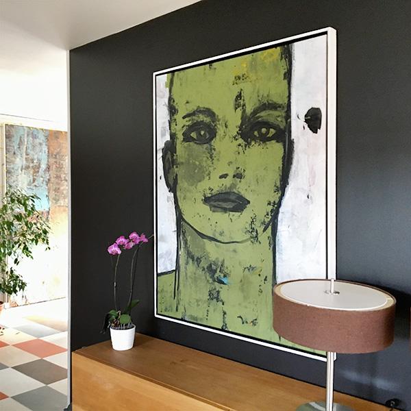 Human Face. 100x150 cm acryl på canvas